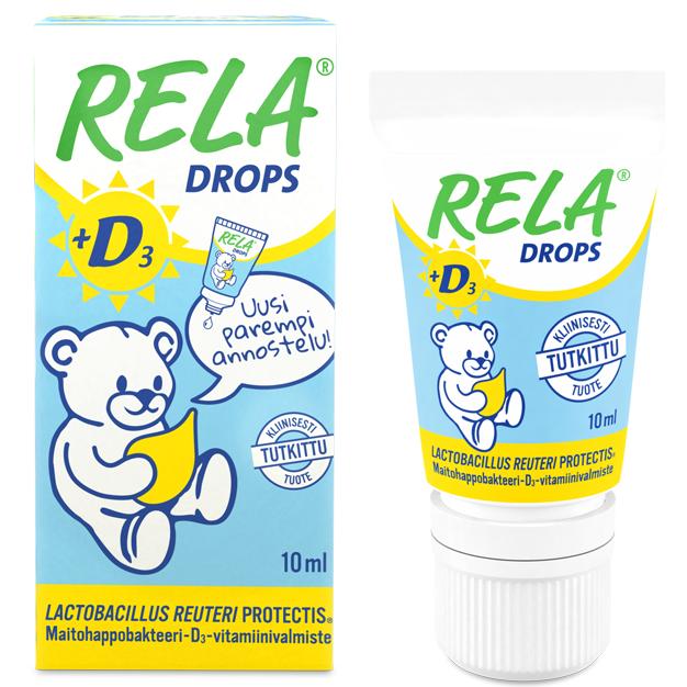 RelaDrops кисломолочные бактерии детские капли