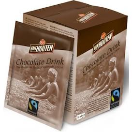 какао в пакетиках Van houten Choco Drink