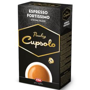 Капсулы кофе Paulig Cupsolo Espresso Fortissimo