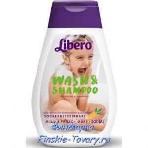 Libero детский шампунь и гель для душа
