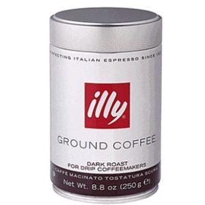 Кофе зерновой Illy Grani Dark темная обжарка в метал банке, 250гр