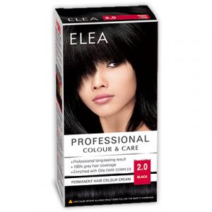 Краска-крем для волос ELEA Professional Color & CARE, № 2/0 Чёрный