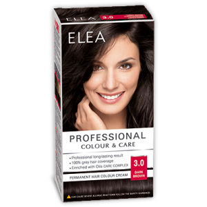 Краска-крем для волос ELEA Professional Color & CARE, № 3/0 Тёмно-коричневый