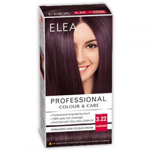 Краска-крем для волос ELEA Professional Color & CARE, № 3/22 Баклажан