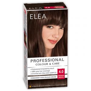 Краска-крем для волос ELEA Professional Color & CARE, № 4/0 Средне-коричневый