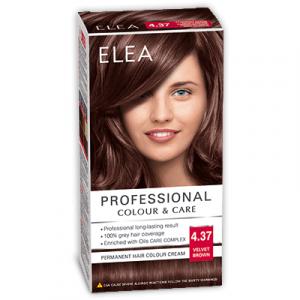Краска-крем для волос ELEA Professional Color & CARE, № 4/37 Бархатисто-коричневый