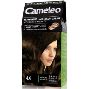 Крем-краска Cameleo Permanent Hair Color Cream, 4/0 Средне-коричневый