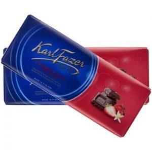 Молочный шоколад KARL FAZER с клубникой