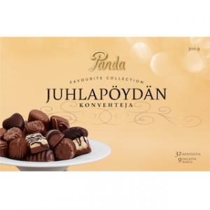 Набор шоколадных конфет Panda Juhlapöydän konvehteja, 300 гр
