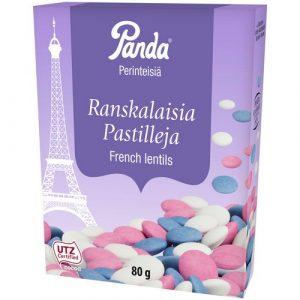 Шоколадное драже в мятной глазури Panda ranskalaisia pastilleja, 80 гр