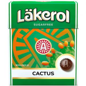 Лакричные пастилки с кактусом без сахара Läkerol
