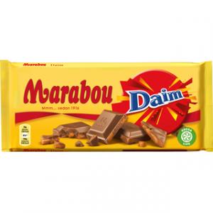 Marabou молочный шоколад с миндальной карамелью