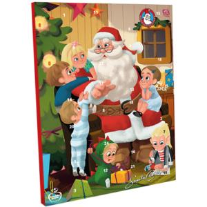Новогодний шоколадный календарь Санта Клаус