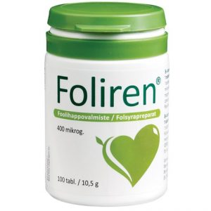 Фолиевая кислота или витамин B9 Foliren