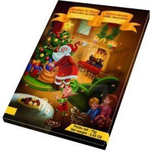 Новогодний Шоколадный календарь Calendrier Avent Cemoi (коричневый), 75 гр