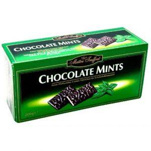 Тёмный шоколад с мятной начинкой Maitre Truffout mint, 200 гр