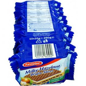 Ореховые вафли Knuss Milky Hazelnut Wafer Slices