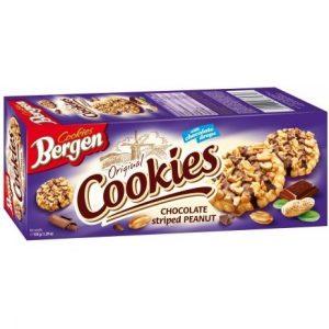 Печенье Bergen Cookies с шоколадом и арахисом, 145 гр
