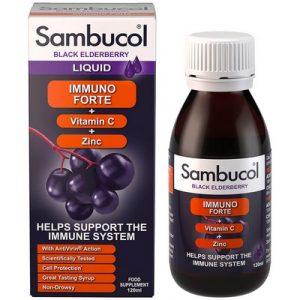 Для повышения иммунитета с 3х лет сироп Sambucol