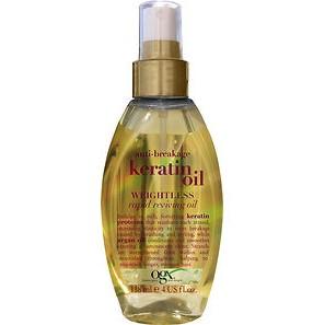 масло от ломкости волос OGX kuivaöljy Anti-Breakage Kerati